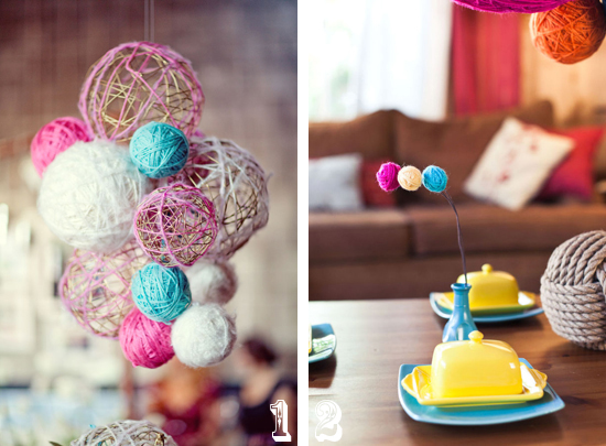 yarn1 Свадьба в стиле Handmade: некоторые нюансы декора свадьбы хэндмэйд