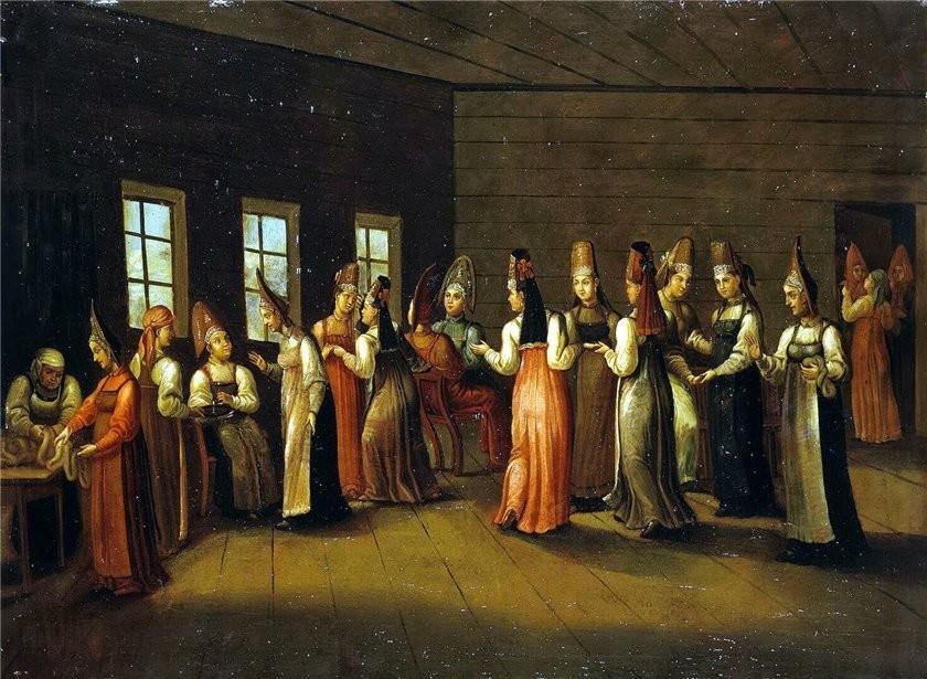 Девичник как часть свадьбы в старых традициях