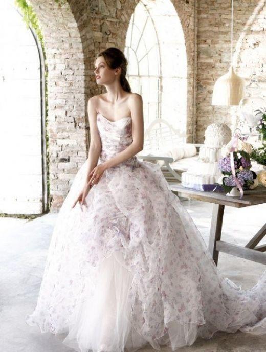 Свадебные платья с принтом