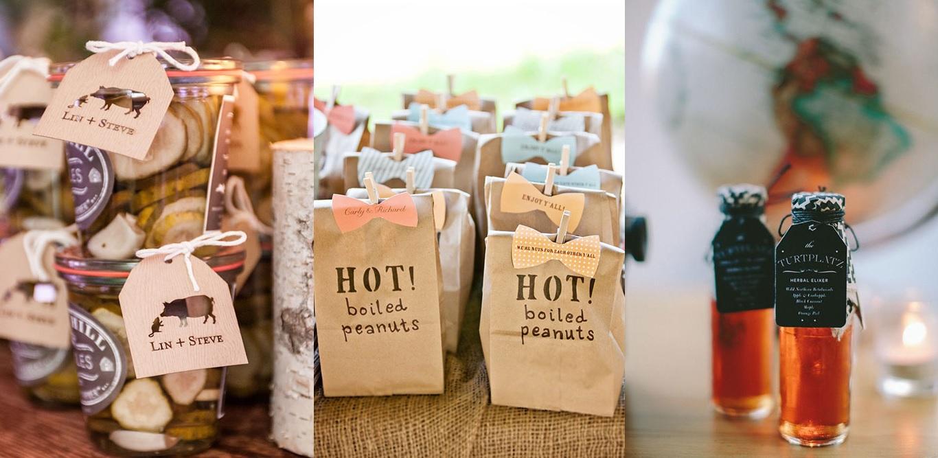 Съедобные сувениры для гостей на свадьбе