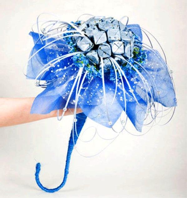 buket-konfetnyj-na-svadbu Букет из конфет на свадьбу