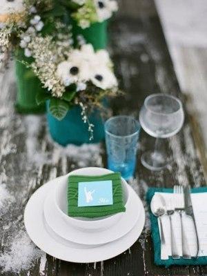 dekor-stola-zelenym-tsvetom Свадьба в зеленом цвете