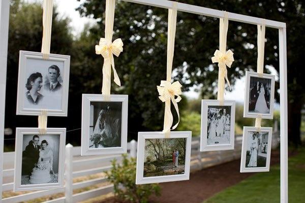 Фотографии в декоре свадьбы
