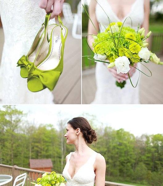 obraz-nevesty-v-zelenom-tsvete Свадьба в зеленом цвете