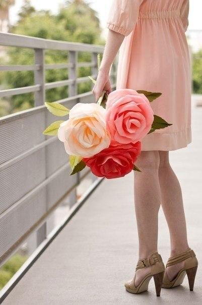 Мастер класс: розы из креповой бумаги для декора свадьбы