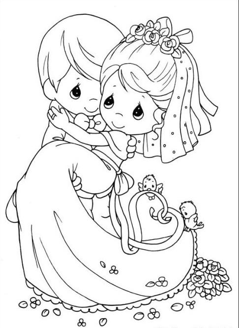 Свадебные раскраски вариант развлечения для детей на свадебной церемонии