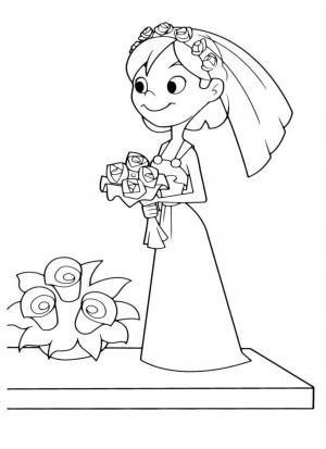 svadebnye-raskraski-4 Свадебные раскраски вариант развлечения для детей на свадебной церемонии