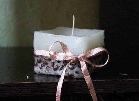 svecha Мастер-класс: rофейная свеча своими руками