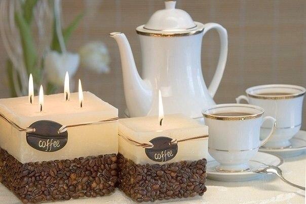 svechi Мастер-класс: rофейная свеча своими руками