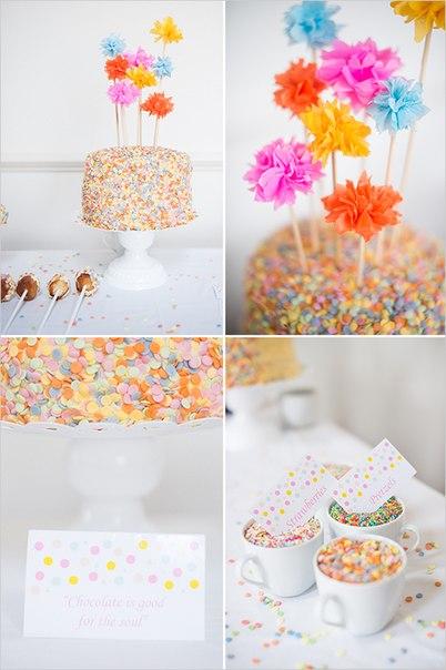 Мастер-класс: торт с конфетти