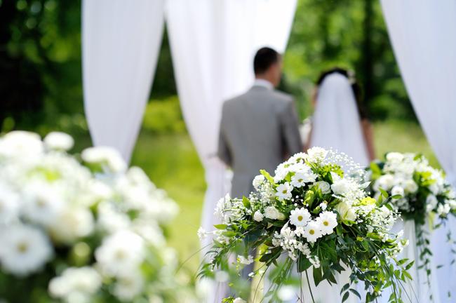 Как украсить welcome зону для свадьбы