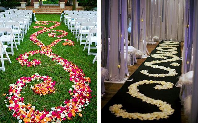 51 Лепестки роз, как их можно использовать на свадьбе?