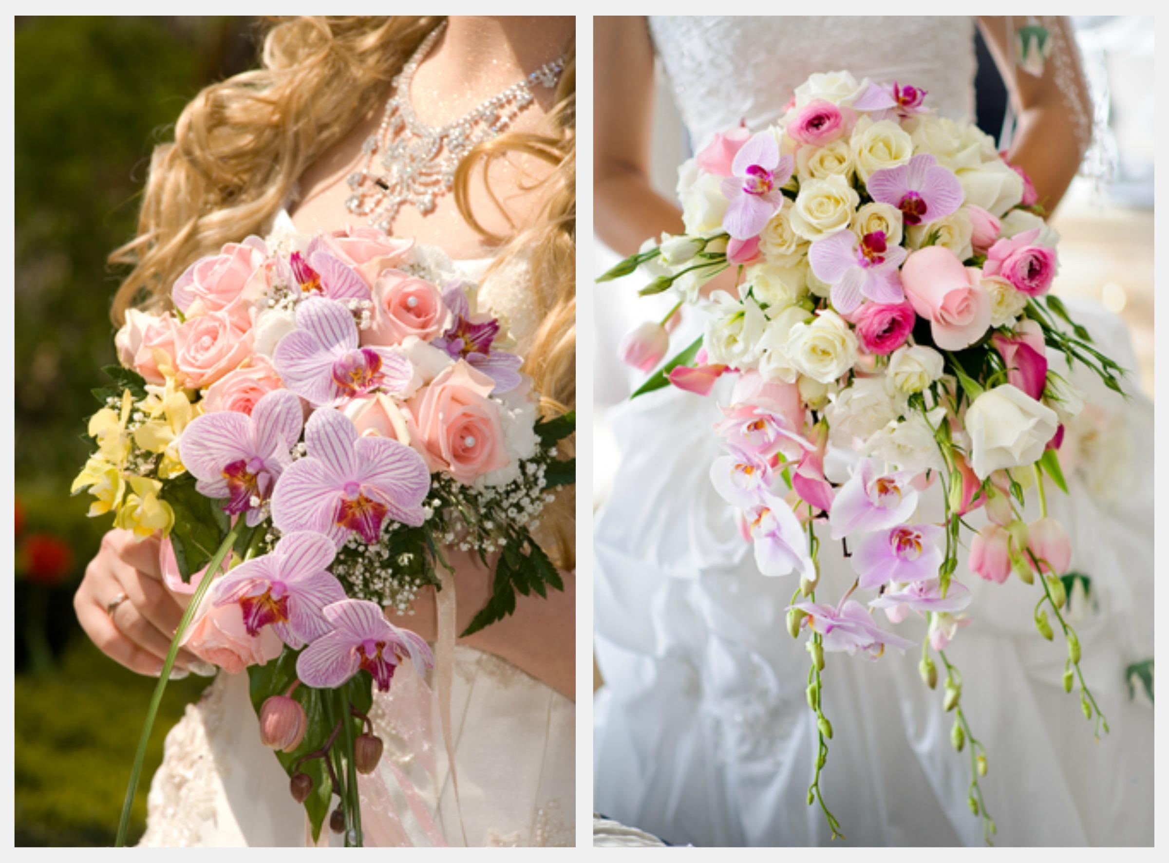 Букет невесты из орхидей, несколько советов по составлению букета