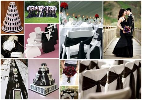 Dekor-cherno-beloy-svadbyi-460x325 Нестандартные цветовые решения для оформления летней свадьбы