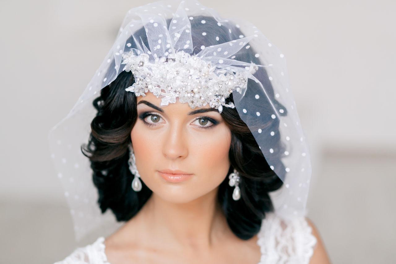 Короткая фата для невесты