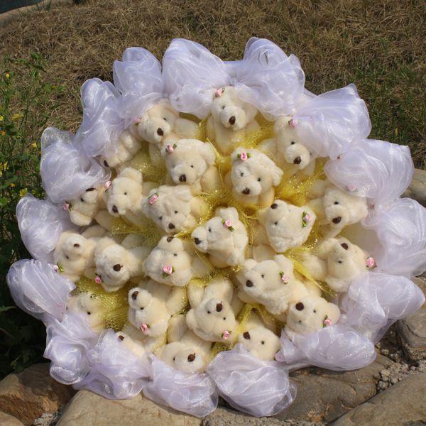 svadebnyj-buket-medvediki Букет-дублер невесты из мягких игрушек