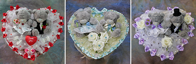 Букет-дублер невесты из мягких игрушек