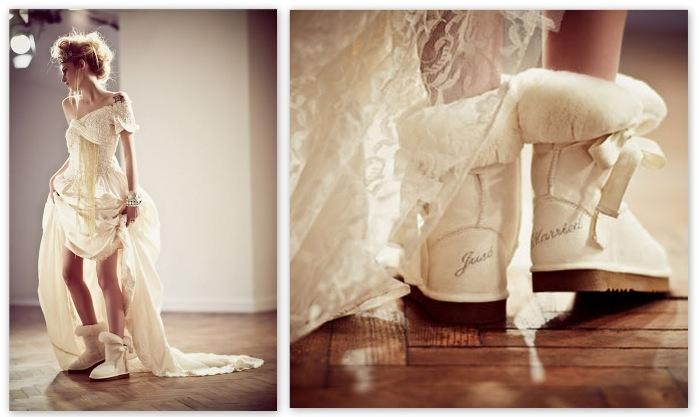 uggi-na-svadbu Обувь для зимней свадьбы, что выбрать?