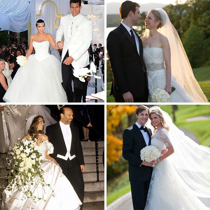 8 знаменитостей, которые одевали на свадьбу платья от Vera Wang