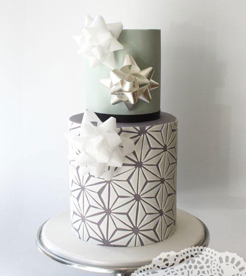 Idei-dlya-zimnej-svadby-tort-podarok1 Идеи для зимней свадьбы: торт подарок