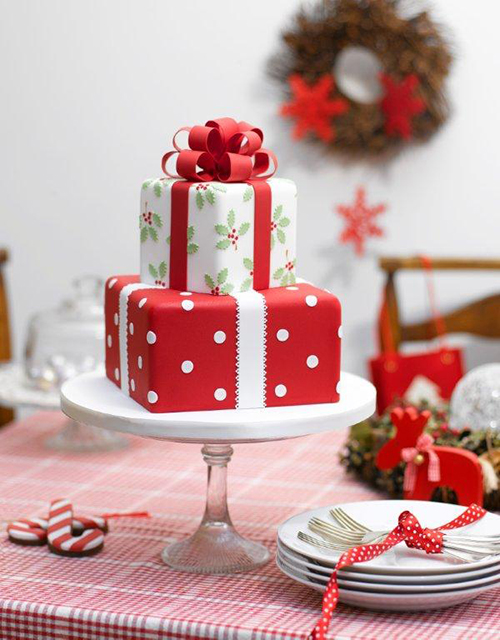 Idei-dlya-zimnej-svadby-tort-podarok2 Идеи для зимней свадьбы: торт подарок