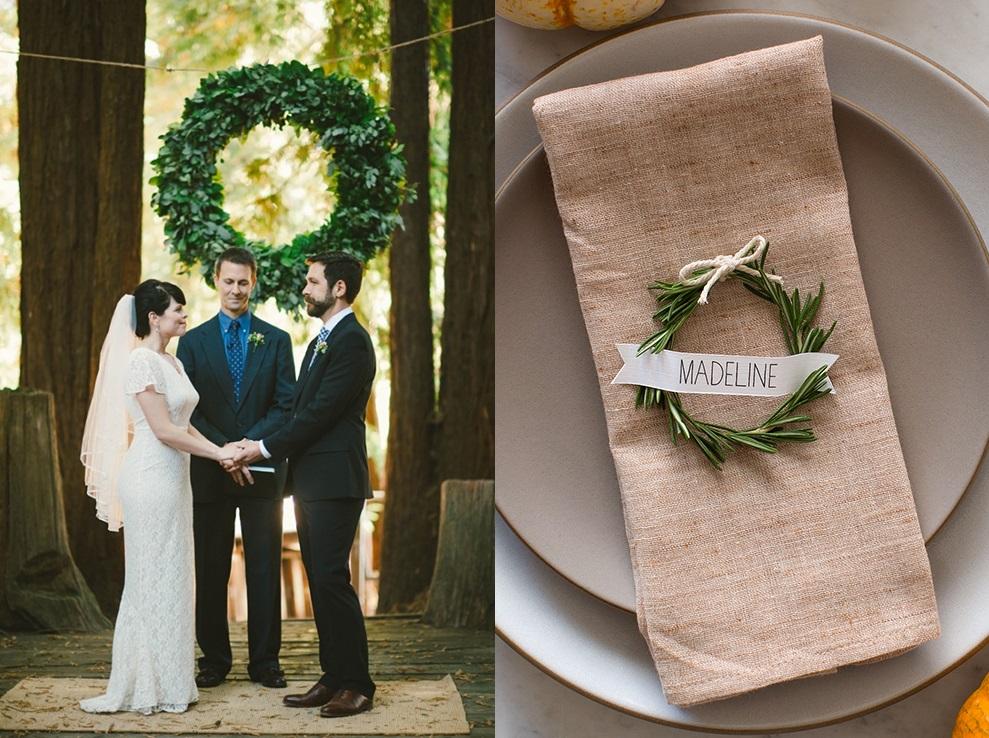 Идеи для зимней свадьбы: венки