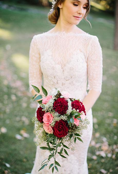 Krasnye-svadebnye-bukety10 Красные свадебные букеты