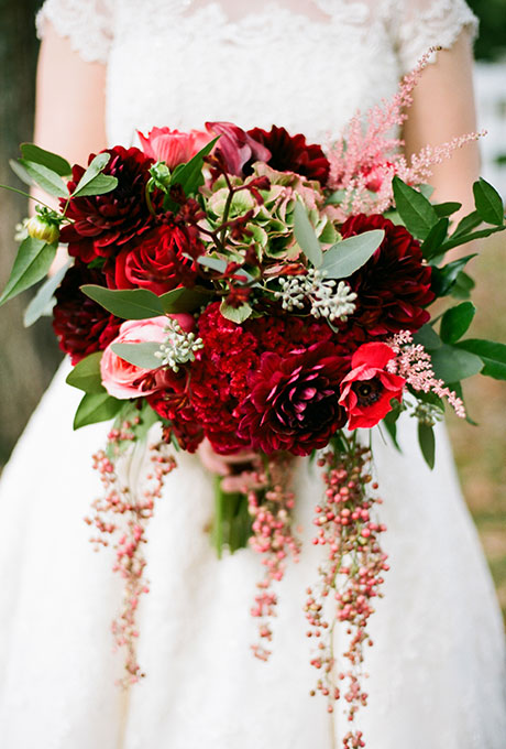 Krasnye-svadebnye-bukety13 Красные свадебные букеты
