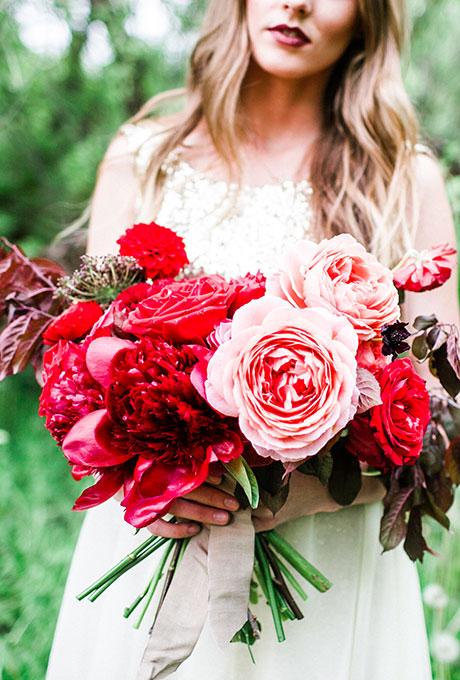 Krasnye-svadebnye-bukety15 Красные свадебные букеты