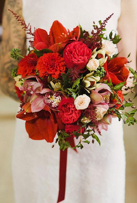 Krasnye-svadebnye-bukety4 Красные свадебные букеты