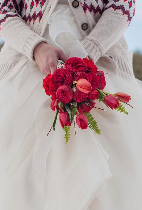 Krasnye-svadebnye-bukety7 Красные свадебные букеты