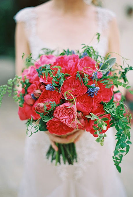 Krasnye-svadebnye-bukety9 Красные свадебные букеты