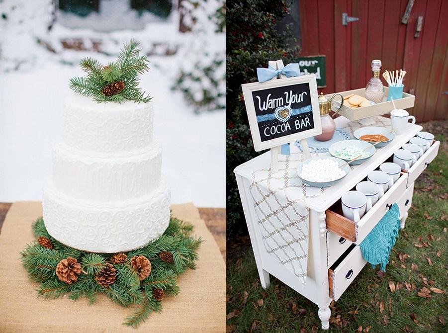 Несколько идей для зимней свадьбы часть 1