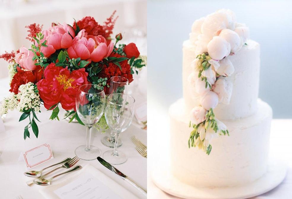 Несколько способов включить пионы в оформление свадьбы