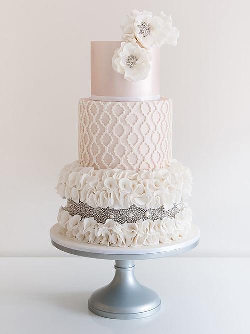 Svadebnye-torty-s-biserom1 Свадебные торты с бисером