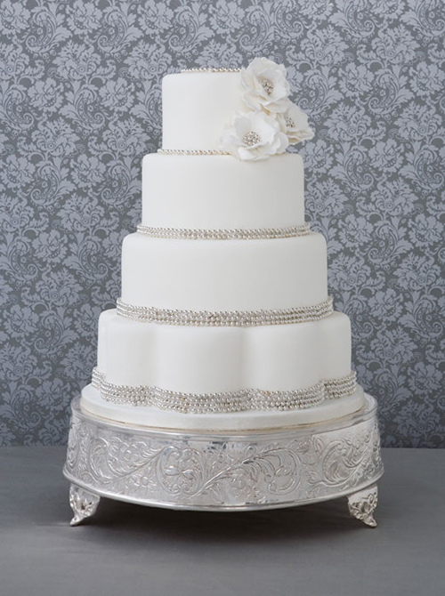 Svadebnye-torty-s-biserom3 Свадебные торты с бисером