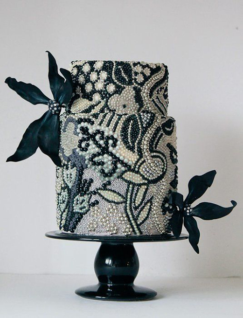 Svadebnye-torty-s-biserom5 Свадебные торты с бисером