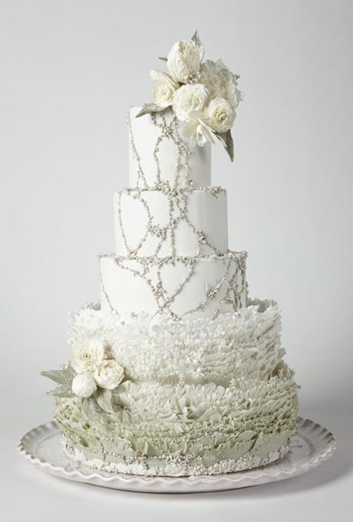 Svadebnye-torty-s-biserom6 Свадебные торты с бисером