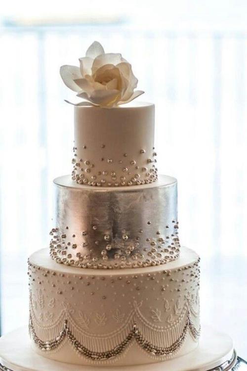 Svadebnye-torty-s-biserom8 Свадебные торты с бисером