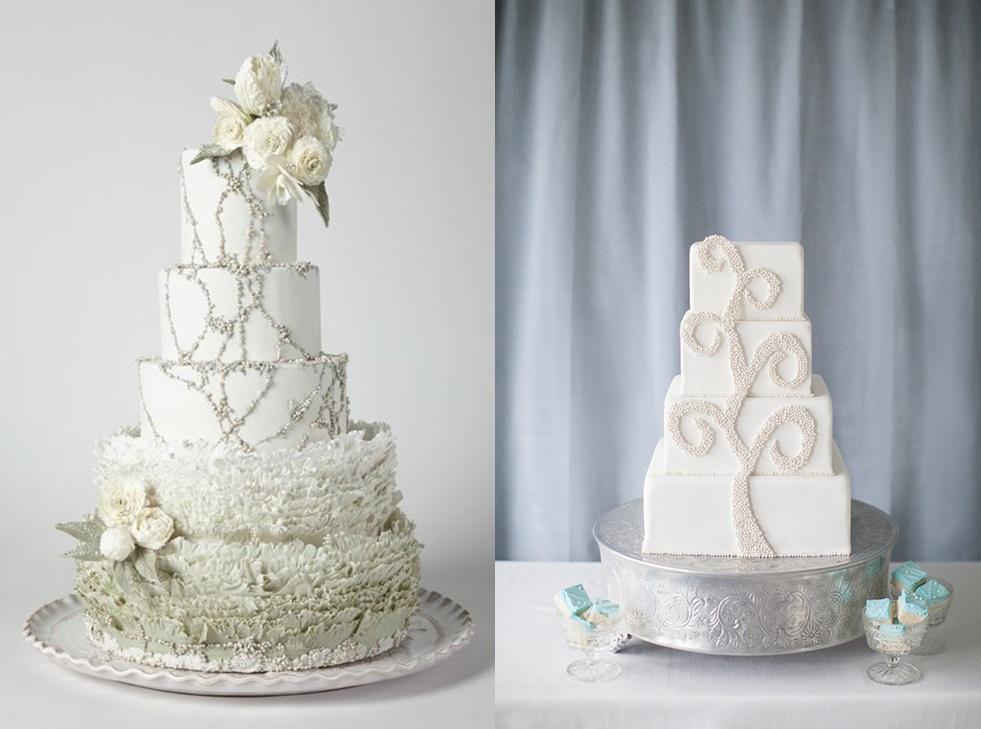 Свадебные торты с бисером