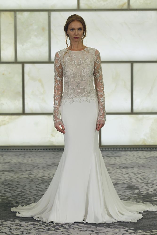 Trendy-2015-goda-dlinnye-rukava13 Тренды свадебных платьев 2015 года: длинные рукава
