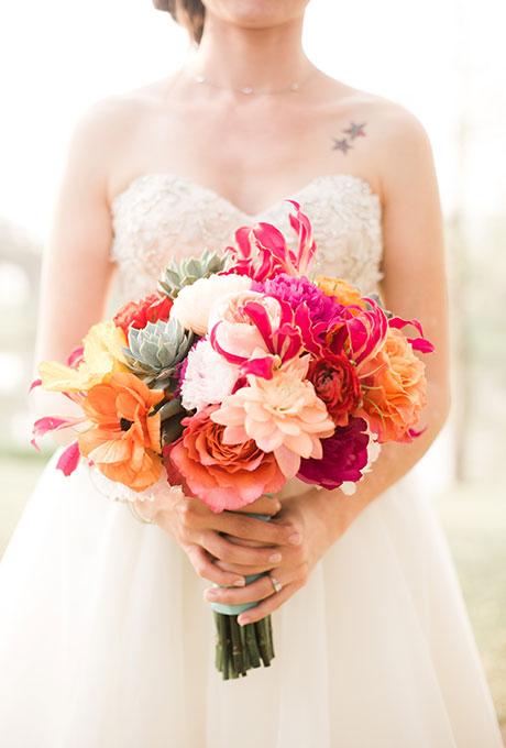 Velikolepnye-rozovye-svadebnye-bukety-10 Великолепные розовые свадебные букеты