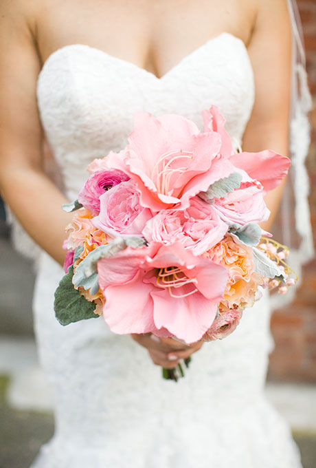 Velikolepnye-rozovye-svadebnye-bukety-7 Великолепные розовые свадебные букеты
