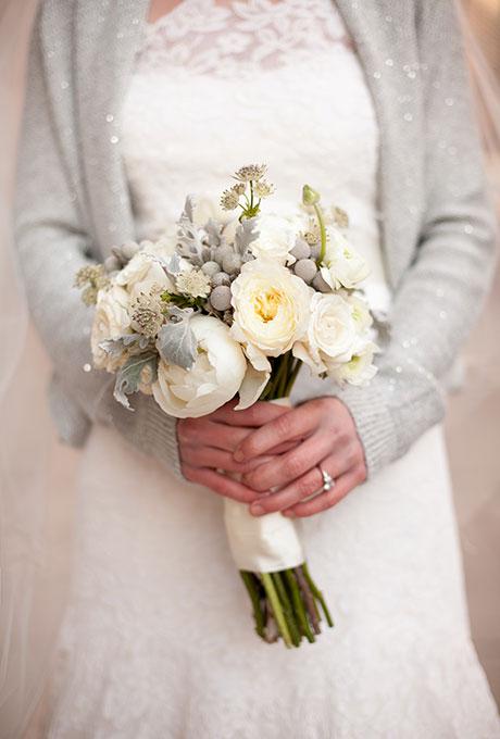 Zimnie-svadebnye-bukety4 Зимние свадебные букеты: выбираем зимний букет