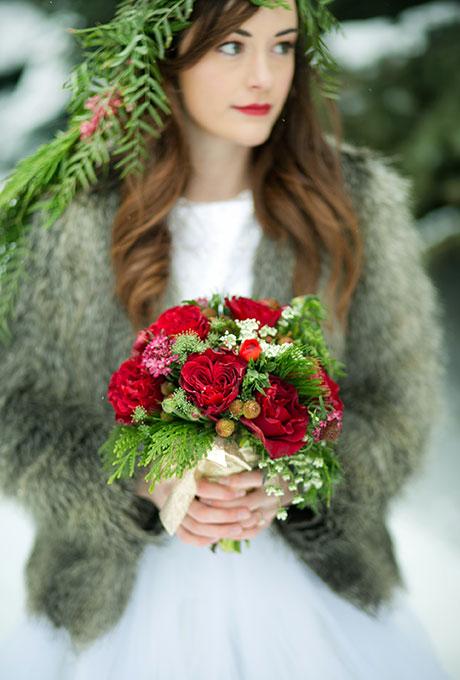 Zimnie-svadebnye-bukety6 Зимние свадебные букеты: выбираем зимний букет