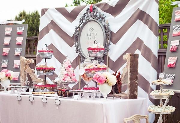 1413 Нежная и стильная свадьба в сером и розовом цветах