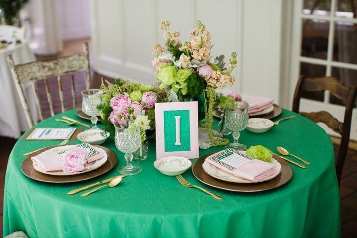 148 Свежая и гармоничная свадьба в зеленом цвете