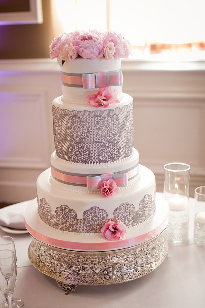 229 Нежная и стильная свадьба в сером и розовом цветах