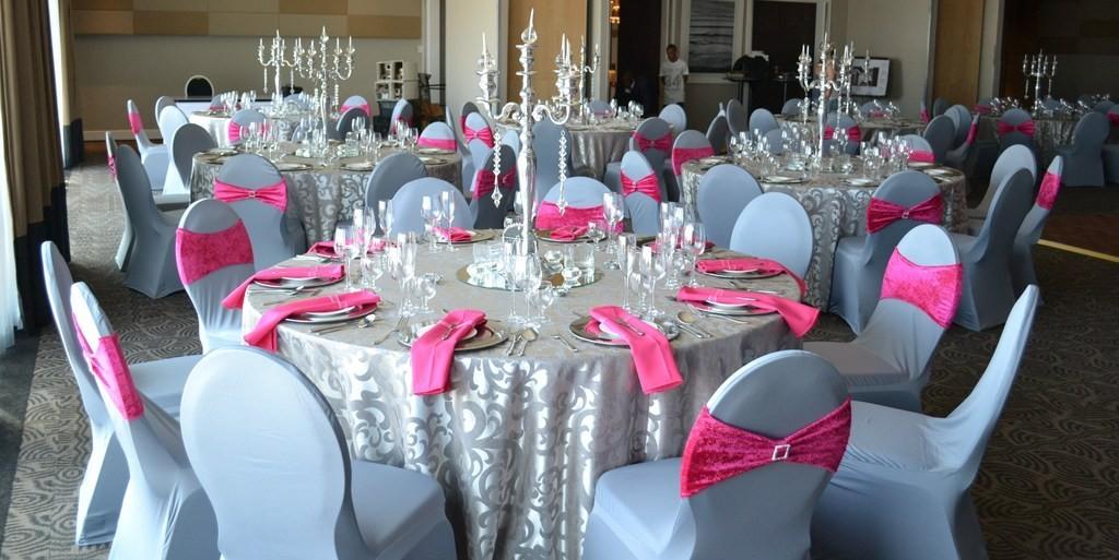 235 Нежная и стильная свадьба в сером и розовом цветах