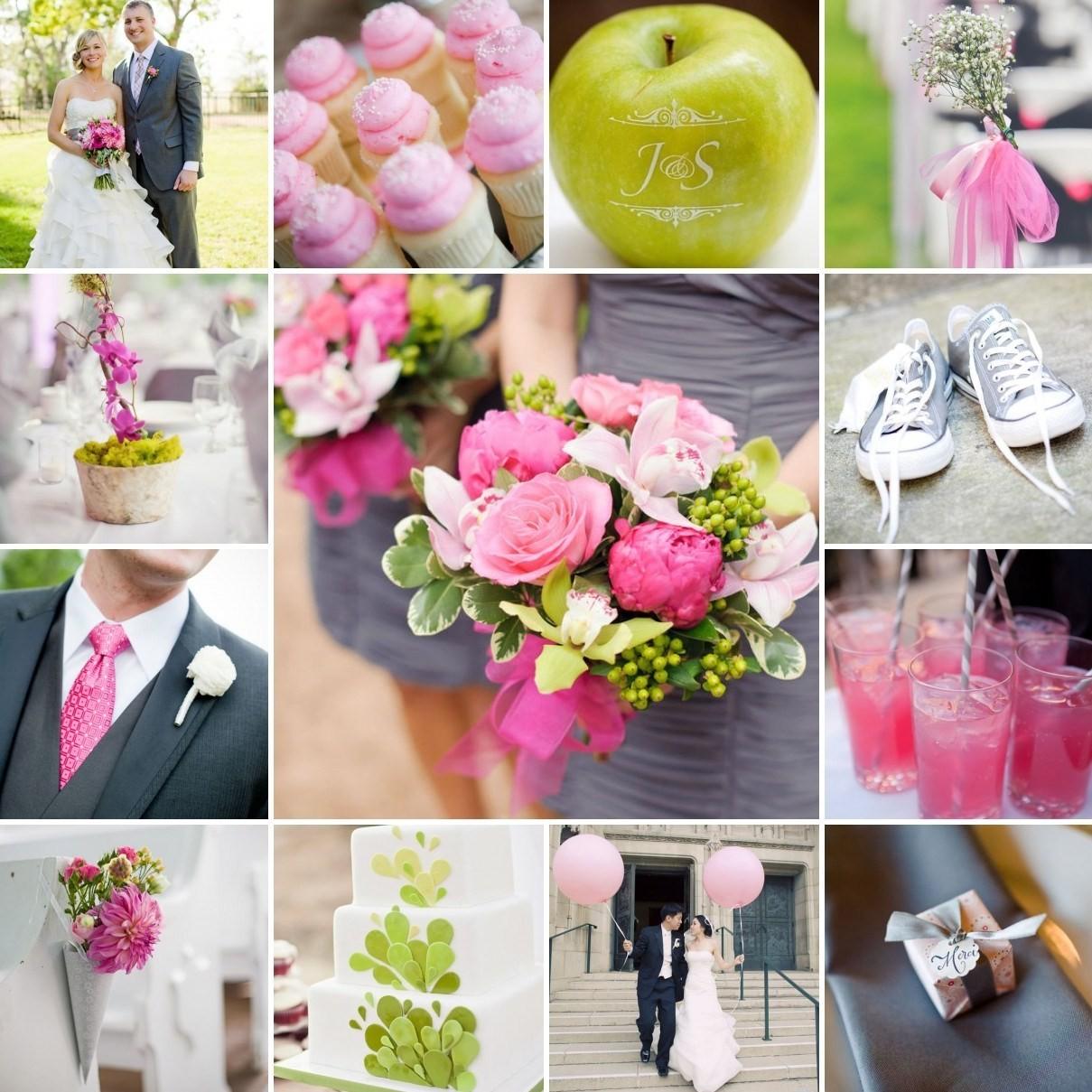 Нежная и стильная свадьба в сером и розовом цветах